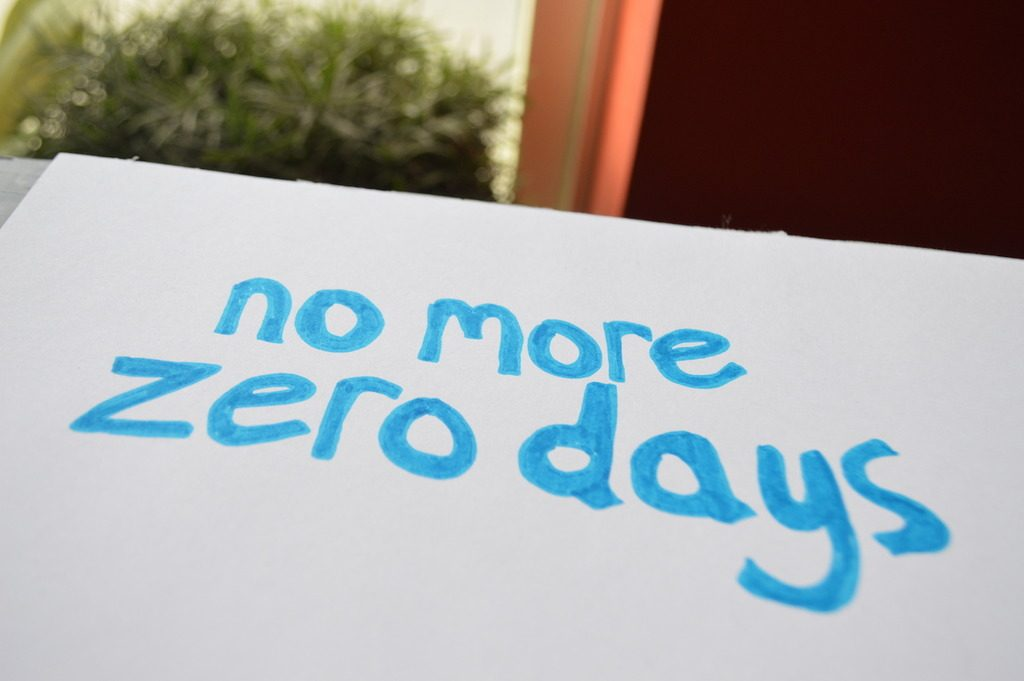 Motivation Mantra: No More Zero Days.