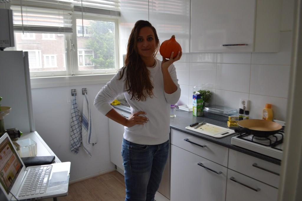 self help hipster holding a pumpkin